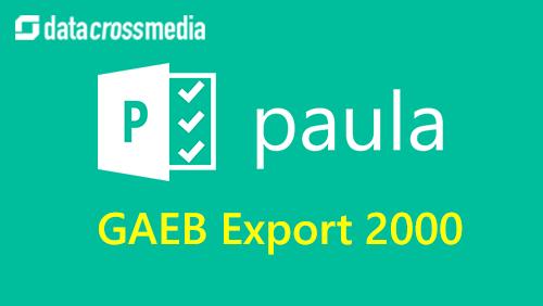 Export GAEB 2000